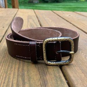 Dark Brown 100% Leather Belt
